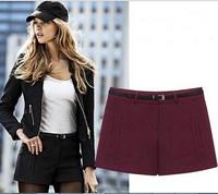 L-5XL 2015 Spring Fat Women's Autumn Winter Fashion Red/ Black Simple Wild Woolen Boots Shorts Big Size XXXXXL