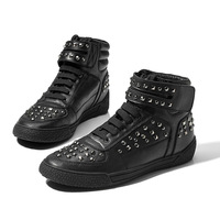 New Designer Rivet genuine leather high-top casual shoes fashion male martin sneaker skateboarding shoes