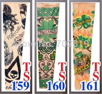 2015 nova coleção tatuagem Tribal mangas basquete dança festa braço Sports Wear tigre manga 100 PCS atacado(China (Mainland))