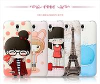 Carton pattern case for  lenovo a859 mobile phone case free shipping