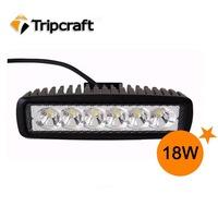1pcs  white 12 volt 18W LED Working Light bulbs worklight driving 12V 24v 18W bulb Spot/Flood beam 18W led tractor work lights