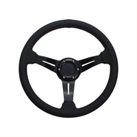 Car Steering Wheel Black Genuine Leather Hole-digging Breathable Q11 Slip-resistant Universal Supplies Car Accessories