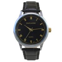 fashion black dial gold roman number wrist luxury man Watch japan quartz businessman woman Wristwatch top unisex waterproof hour