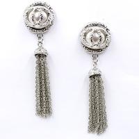 New 2015 women statement fashion long chain tassel pearl Earrings for women jewelry factory price wholesale unique earrings