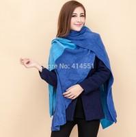 Scarf women 2014 Lady Long 175-230CM Wool Pashmina Warm Knit Hood Cowl Winter Neck Wrap Scarf Shawl free shipping