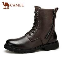Camel Boots 2014 Winter Youth velvet tide Korean men's warm boots Martin boots