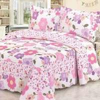 2014 good quality colorful prewash patchwork bedspread