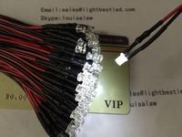 3mm Flat top LED White Color DC5V pre wired  indicator LED light