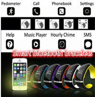 2015 Fashion Original Smart band L12S LED Bluetooth 3.0 Bracelet  WristWatch for  iPhone for Samsung Android Phone