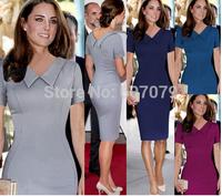 Free hkpost 2015 Elegant Fashion women Tunic Stretch Wear To Work Party Business Casual Pencil Sheath Dress 010