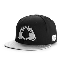2014 new white/black hands adjustable baseball snapback hats and caps for men/women simple sports hip hop mens womens sun cap