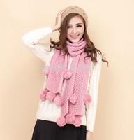 Scarf women 2014 Lady Long Wool Pashmina Warm Knit Hood Cowl Winter Neck Wrap Scarf Shawl free shipping