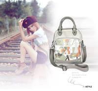 Fashion European and American street bag personalized graffiti handbag diagonal package women crossbody tote bag 0326