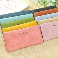 2014 Explosion models women leather wallet Long section Nubuck leather Solid Purse ladies clutch bag Card Pack wt083
