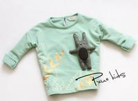 New 2015 baby girls rabbit cartoon cotton shirt children kids batman hoodies kids fashion shirt A139