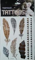 Wholesale christmas tattoo sticker, popular tattoo flash,sex girl tattoo,black gold silver temporary tattoo sticker 1Piece / Lot