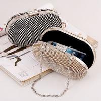 Double faced full quality evening bag rhinestone female mini bag bride wedding dress cross-body bags 50007