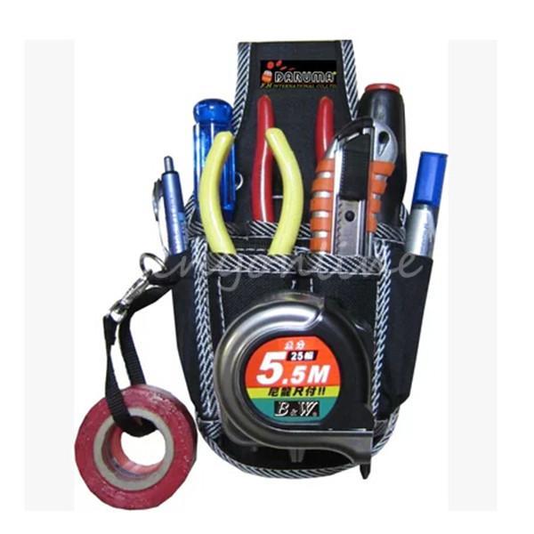 2015 New Design 9in1 Electricians Waist Pocket Tool Belt Pouch Bag Screwdriver Carry Case Holder Outdoor