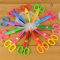 6PC Stainless steel DIY art scissors paper cutter scrapbook photo album scissors children kids Stationery scissors Free Shipping