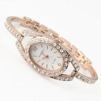 Upscale gold Diamond Bracelet Watches Crystal Decoration Women Student Wristwatch New simple elegant Dress Quartz Watch Hot-sale