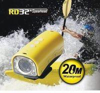 Cheap 5MP Sensor 1280x720P HD Sports Video Camera Helmet Camera 20M UnderWater  with Interal 850Mah Battery 32GB TF Card Slot