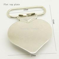 20pcs per lot,flat heart shaped clip in nickel color wholesale Suspender Clip Suspender Clips Manufacturer
