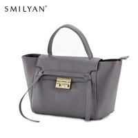 Smilyan women messenger bags C Line belt genuine leather shoulder bag handbags famous brands catfish designers bolsos femininas