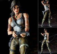 "Authentic Tomb Raider Lara Croft Play Arts Kai Square Enix 7""action figure MISB"
