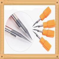 10 pcs/lot 3.175mm 45Degree 0.3mm Flat Bottom Cutting Tool Bits, V Shape Carbide Engraving Tools Milling Cutters Free Shipping