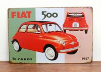 FAAT 500  Home Decoration Retro Tin Signs Wall Art decor Bar Vintage Metal Craft Painting Wall Stickers Plaque