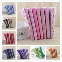 8 Sets/lot 50cmx50cm Cotton Fabric Fat Quarters Bundle Quilting Patchwork Sewing Fabric For Tilda Doll quiltingTextile DIY