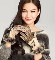 Bu  Ta Ms.   Fashion wool leather gloves   PT9829