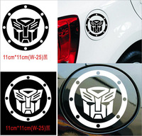 10pcs/lot Transformers Autobots Decepticons car stickers on CAR FUEL TANK CAP reflective material car covers accessories