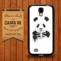 Soft Robber Panda Case for Samsung Galaxy S4 i9500 Free Shipping Own Covers for On Sale