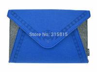 Fashion Women Blue Felt Handbag Ladies Clutch Purse Evening Bag