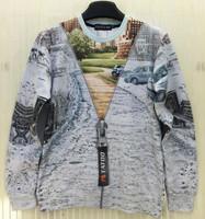 Top Fashion New Harajuku Style Clothes Women/Man Brand Design Tops Casual Hoodies Sport Sweatshirt 3D Zipper Road Print Crewneck