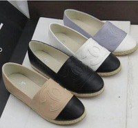 Free Shipping  Brand women's singles shoes flat shoes with big yards women Flat shoes size35-42