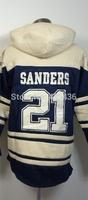 Dallas #21 Deion Sanders Jerseys Hoodies,Mens Winter Sport Hoodies,Double stiched American Authentic Football Sweatshirt