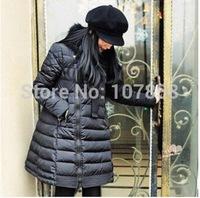 2014 New Brand Down & Parkas European Fashion Raccoon Fur collar Cloak diagonal zipper Women Winter thick Jacket Women Warm Coat