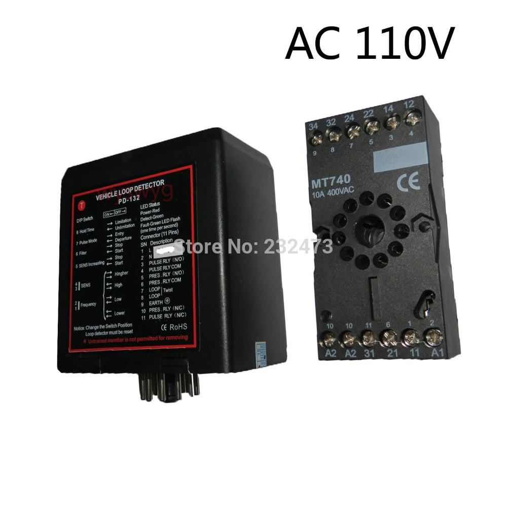 AC110V Ground Sensors Traffic Inductive Loop Vehicle Detector Signal Control(China (Mainland))