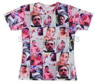 2015 New high quality Women's Men's Short Sleeve T shirt Fashion James Print 3D t shirt S M L XL XXL