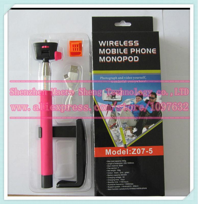 100 sets, retail monopod+clip holder+bluetooth camera shutter self