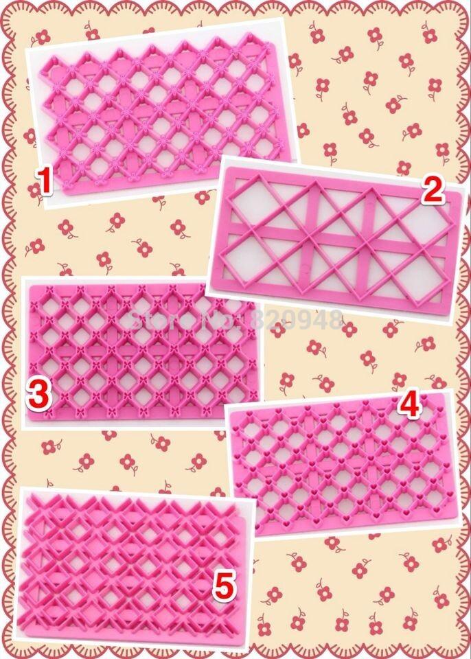 Grátis frete 5 pc plástico cortador de massa de curva da borboleta da flor de seleção linha cortador de biscoitos êmbolo Fondant ferramenta grade do coração do valentim(China (Mainland))