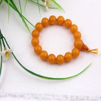 Fashion Gold Color Round Shape Amber Unisex Bracelet New Charms Prayer Beads Jewelry Bracelet  12*12mm
