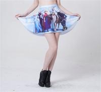 New Women Funny Group Skater Skirts Skater Saias Female Pleated Skirt for Women Hot Sale Drop Shipping S119-253