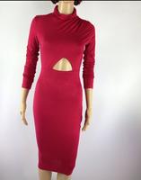 NEW fashion autumn  2014 Elegant Celebrity  Cotton Casual Bodycon dress Women  evening  Party Homecoming Bandage Dresses