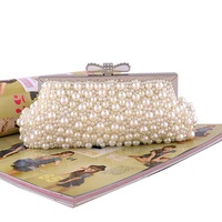 New Sweet Women Noble Elegant Pearl Evening Bag Female brilliant Handbag Day Clutch Chain Messenger Bags 50009