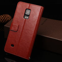 New Arrival Fine sheep Leather Cases for Samsung Note Edge N9150,Cover with Stand and Card Holders YY-02