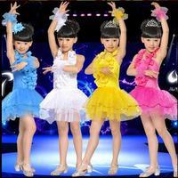 2015 new fashion new Kids Children's tutu skirt girls Latin dance performances sequined Girls dress costume contest