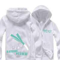 VOCALOID MIKU Cosplay Costume Sweater men&women Hoodie Outerwear Fleece Thick Warm CoatS jacket For Winter Size S M L XL XXL